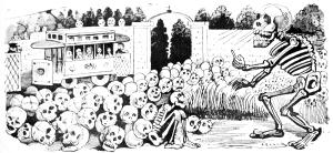 Skeleton Speaks to an Audience